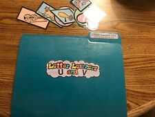 Learning Letters U and V literacy Centers File Folder Games PreK-K