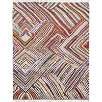 Abstract Modern Moroccan Gabbeh Area Rug Hand-Knotted Plush Wool Carpet 8x10 ft