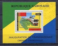 36996) Gabon 1986 MNH Transgabon Railway - Trains S/S