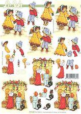 Decoupage Sheet Christmas Feuille 3D à découper A4-8215.739 Décor de Noël