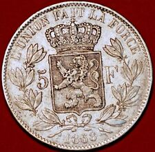 1868 Belgium. 5 Francs  Leopold II. KM#24. Silver Coin.