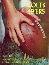 1963 San Francisco 49ers at Baltimore Colts Program - NEAR MINT!