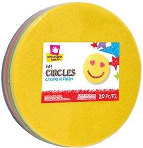 """6.5"""" Felt Circles 20/Pkg-Assorted"""