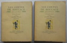 LES CONTES DE BOCCACE - Ilustrations de Brunelleschi 1934 2 vol.