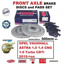FOR OPEL VAUXHALL ASTRA K 1.0 1.4 1.6 Turbo CDTi 2015-> FRONT BRAKE PADS + DISCS