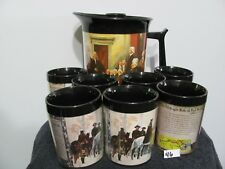 Retro Mid Century Thermo-Serv Insulated Coffee Mugs Pitcher Our History       46