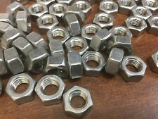 Pack of 25 Hex Nuts, 8mm x 1.0 pitch, Stainless Steel, Fits 13mm wrench