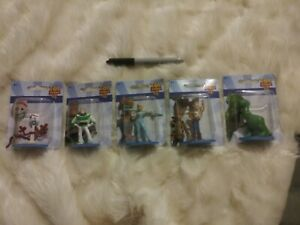 NEW DISNEY TOY STORY 4 MINIATURE REX WOODY FORKY BUZZ BO PEEP ACTION FIGURES LOT