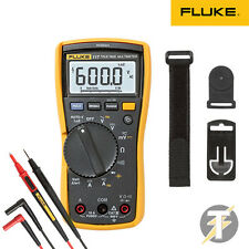 Fluke 117 True-RMS Digital Multimeter KIT2S w/ TL175 Leads and TPAK3 Hanging Kit