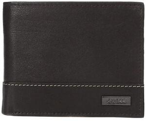 Guess Men's Premium Leather Credit Card ID Billfold Wallet Black 31GU20X001