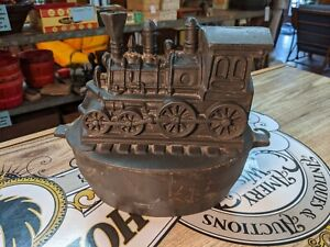 "Antique Cast Iron Train Railroad Wood Stove Humidifier 12"" HEAVY Kitchen Pan Pot"