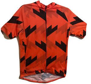 Twin Six Cycling Jersey Size Large Full Zip NWRC Orange Black READ