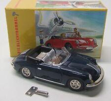 Schuco Tin Model Porsche 356 C Cabriolet 1962 - Dark Blue Length 15 cm / Lengt