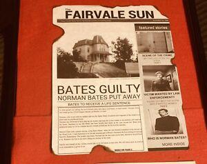 Norman Bates Phsycho News Print