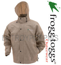 FROGG TOGGS RAIN GEAR-PA63123-04 KHAKI PRO ACTION MENS JACKET-WET FISHING HIKING