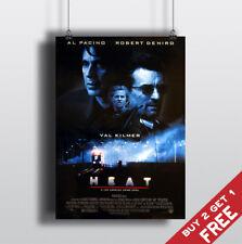 HEAT 1995 MOVIE POSTER Al Pacino Robert De Niro Film A3 A4 Art Print Wall Decor