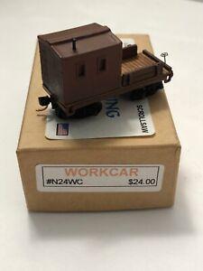 N Scale RailRoading Plus #N24WC, Custom Undecorated Work Car NIB
