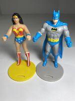 Vintage 1985 WONDER WOMEN & SUPERMAN CUP HOLDERS