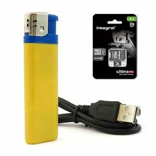 Lighter Spy Camera Video DVR Hidden Discreet Recording + 8GB Micro SD Card UK