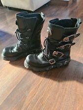 New Rock Reactor Boots Black UK9 / Gothic / Biker / Metal