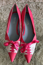 Lambertson Truex Womens Pink Leather Ponted Toe Flats Sz 39