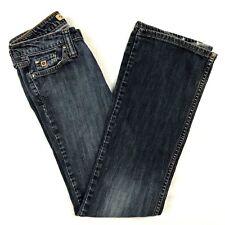 Paris Blues Jeans Junior Size 1 Bootcut Stretch Lowrise Inseam 30 Dark Wash