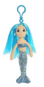 "7"" Sapphire Clip-On Sea Sparkles Mermaid Aurora Plush - Aurora World, Inc."