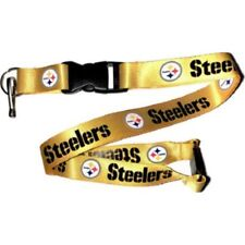 NFL Pittsburgh Steelers Yellow Lanyard Keychain Officially Licensed Aminco 22""