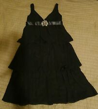 Lazaro black chiffon tiered open back dress, sz 8, NWOT bridesmaid, occassion!!!