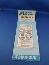 INDIAN AIRLINES INDIA TIMETABLE SCHEDULE 1979 FLIGHT MAP TRAVEL HOTEL ADVERTISE