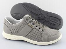 Men's MEPHISTO 'Hero' Grey Leather Sneakers Size US 9.5 EUR 9