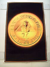 "VINTAGE 1981 EARTH WIND AND FIRE BLACKLIGHT POSTER VELVET 35"" X 23"" Disco FUNK"