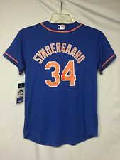 MLB New York Mets Noah Syndergaard Majestic Cool Base Youth Jersey size L NWT