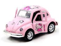 PINK HELLOW KIKI BEETLE DIECAST CAR - MUSIC & LIGHT OPENING DOOR HERBIE 1/36