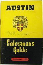 AUSTIN Commercial Show Edition Salesmans Guide Original Brochure Sep 1952 #954