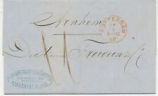 NIEDERLANDE 1862 Original-Schreiben Schiffsmakler und Exped. Joh. Ooms ROTTERDAM