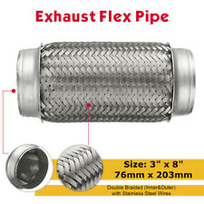 3'' x 8'' Stainless Steel Double Braided Flexi Exhaust Pipe Tube Joint Flexible