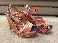 River Island Multicoloured Wedge Heeled Shoes- Size 8