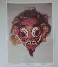 "16"" x 12"" Crystal Productions 1991 - 20th Century - Balinese Mask - Poster Print"