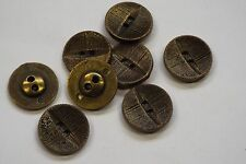 8pc 15mm Antique Gold Brass Metal Blazer Coat Cardigan Knitwear Kids Button 3482