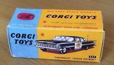 Corgi 223 Chevrolet State Patrol Empty Repro Box Only