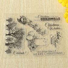 Alphabet Flower Transparent Rubber Clear Stamp Seal Sheet Cling Scrapbooking DIY