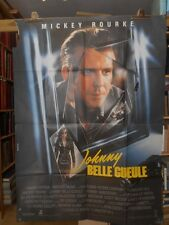 AFFICHE originale grand format ( 120 x 160 ) JOHNNY BELLE GUEULE -1989 .