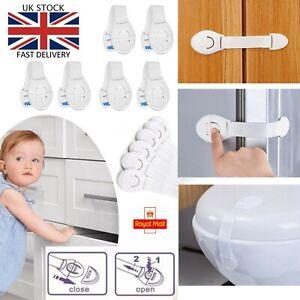 6x Safety Baby Kid Child Lock Proof Cabinet Cupboard Drawer Fridge Pet Door UK