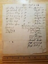 1757 Fort William Henry Alarm, French + Indian War document Signed by 7 Officers