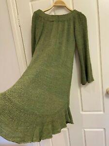 Angel Biba knitted dress Size M Olive Brand new