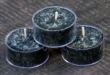 10pk  BLACK MUSK & PEARS Scented Natural TEA LIGHT WEDDING CANDLES 60 hrs/pack