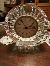 Cristal D'Arques, 24% Lead Crystal Quartz Clock, Made In France
