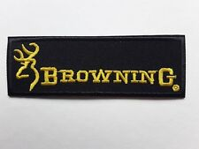 BROWNING IRON/SEW ON EMBROIDERED PATCH SHOOTING FLY GAME CARP FISHING UK SELLER