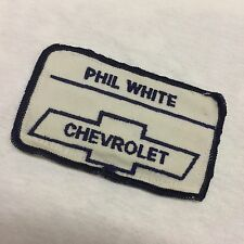 Vintage Phil White Chevrolet PATCH Embroidered FREE SHIPPING